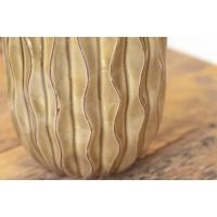 Vase vert en céramique texturée, 7.5 x 5 x 5''