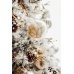 White wool & jute ball ornament, 4''