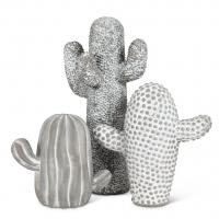 Cactus en ciment, 7.75''