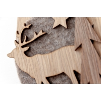 Grey Wood Ornament, 8''
