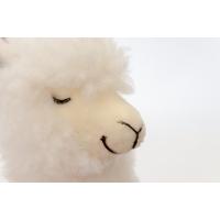 Lama blanc en peluche, 13''