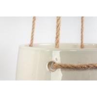 Pot suspendu blanc en céramique, 7''