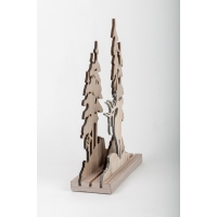 Décor de table en bois, 12''