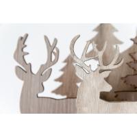 Scène hivernale en bois, 18''