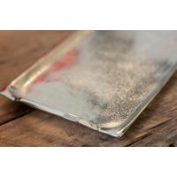 Plateau en aluminium argent 1x10x5.5''