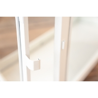 Lanterne blanche, 16.5 X 7.5 X 17.5''