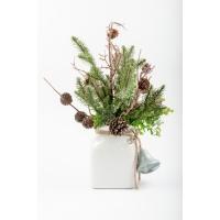 Sapinage et eucalyptus en vase