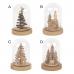 Bell Jar with Christmas Tree 6 X 4 X 4'', Unit Price