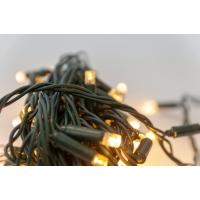 50 Lumières del scintillantes,  blanc chaud sur fil vert, ex