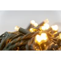 100 lumières led scintillantes, blanc chaud sur fil vert, ex