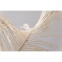 Plume scintillante blanche