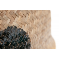 Panier en osier à pois noirs, 18 x 16''