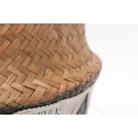 Panier en osier avec texture, 18 x 12''