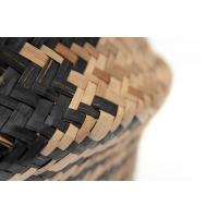 Panier en osier à carreaux noirs, 18,5 x 13''