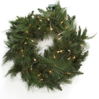 #102 Artificial led illuminated pine wreath 24''