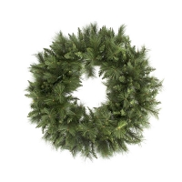 48'' Artificial illuminated pine wreath