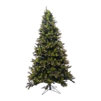 9' Artificial led illuminated cashmere Christmas tree