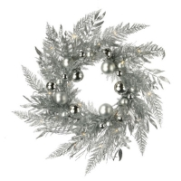 Silver splendor wreath 24''