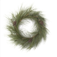 Pinecone and pine wreath 26''
