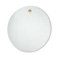 35'' Round mirror with plug hanger