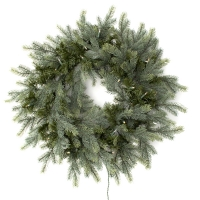 30'' Artificial   illuminated fir wreath