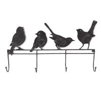 4 Crochets oiseaux en métal 20,5x2x12''