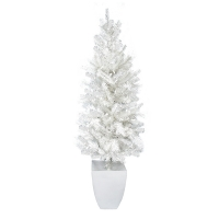 5' White fir tree, 100 white twinkle led