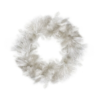 Shimmering white wreath 30'', 35 twinkle led light