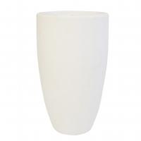 Pot en fibre de verre nuevo ivoire int./ext. 22x22x39,5''