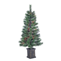 3,5' Optic fiber illuminated potted tree, 18'' diam.