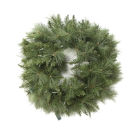 36'' Artificial led illuminated pine wreath