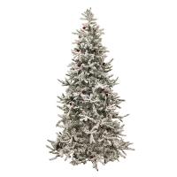 7,5' Flocked illuminated balsam Christmas tree