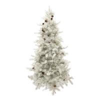 Sapin de Noël blanc illuminé  6'