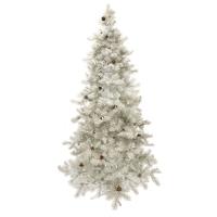Sapin durango blanc illuminé 7,5' x 52'' diam.