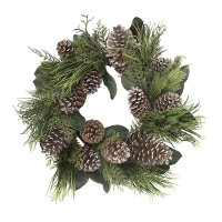 28'' Pine and magnolia leaf wreath
