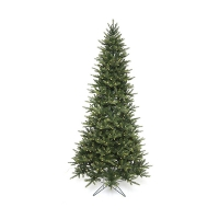 7,5' Illuminated slim green ridge tree
