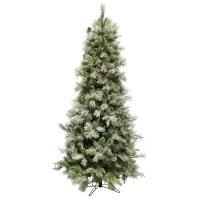 Illuminated 7,5' Slim Jade Christmas Tree