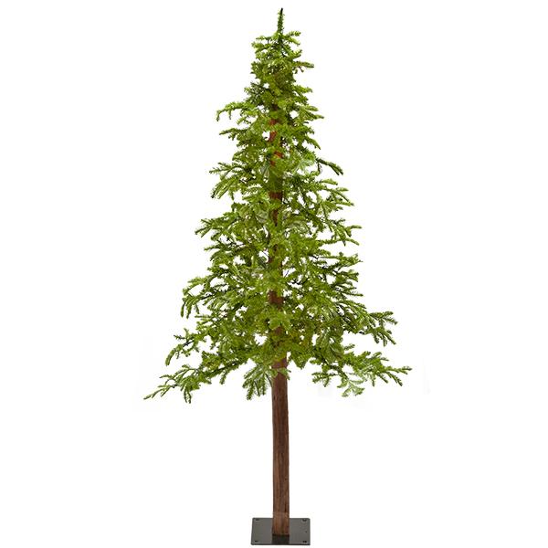 Illuminated 7 Fresh Cut Alpine Tree Decors Veronneau