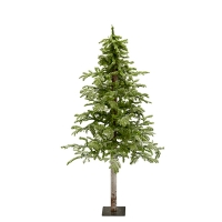Illuminated 5' Flocked Winter Frost Alpine Tree