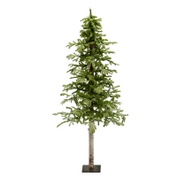 Illuminated 6' Flocked Winter Frost Alpine Tree