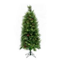 Illuminated 5' Christmas Tree with Pine Cones