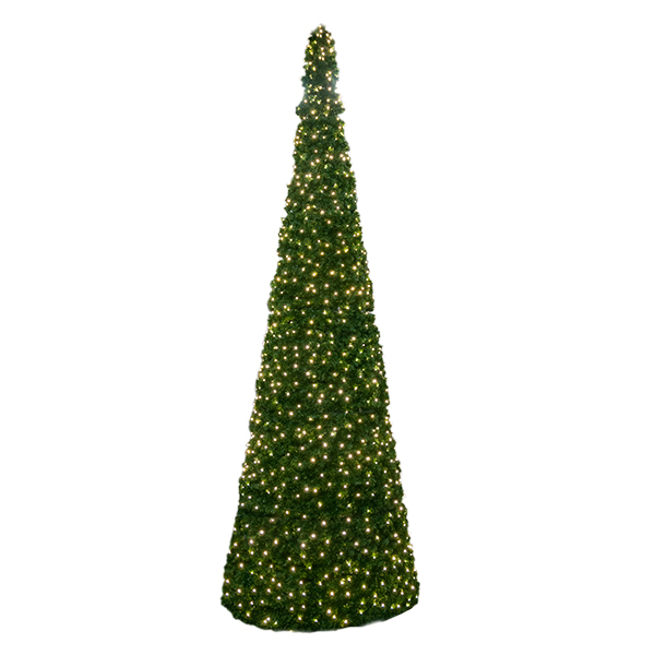 12 Illuminated Outdoor Cone Christmas Tree