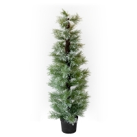 Flocked pine tree, 5'