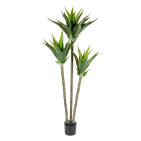 Three-Trunk Artificial Agave, 50''