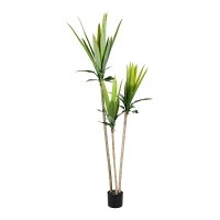 Three-Trunk Artificial Agave, 70''