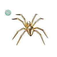 Araignée dorée sur clip 9,5''