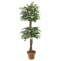 6' Artificial tree, green aralia ming