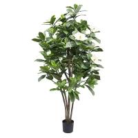 Artificial tree, 6' White flower magnolia
