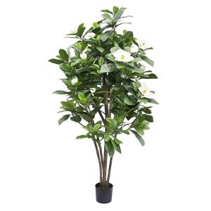 Arbre artificiel, magnolia à fleurs blanches 6'