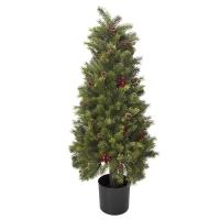 Arbuste en cône de pin et baies 39''